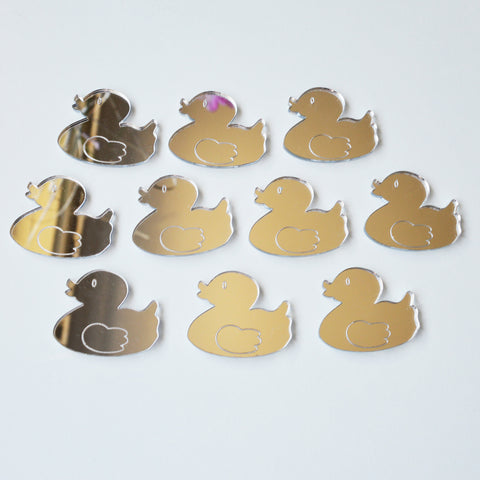Rubber Duck Mini Craft Sized Acrylic Mirrors (10Pk)