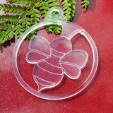 6 PK Cute Bumble Bee Clear Acrylic Christmas Decorations - Suave Petal
