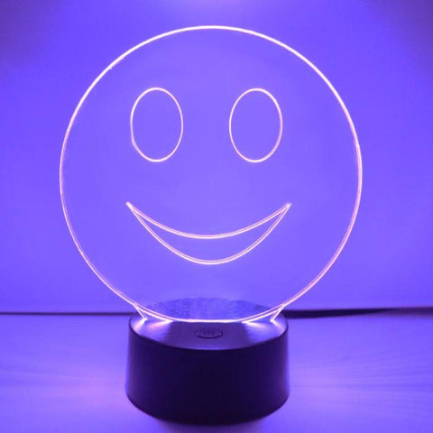 Smiley Emoji Colour Changing LED Acrylic Light - Happy - Suave Petal