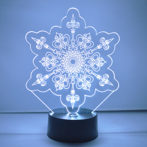 Winter Snowflake Colour Changing LED Acrylic Light - Crystal Points - Suave Petal