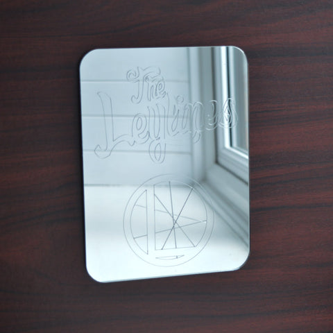 The Leylines Rectangle Logo and Name Engraved Acrylic Mirror