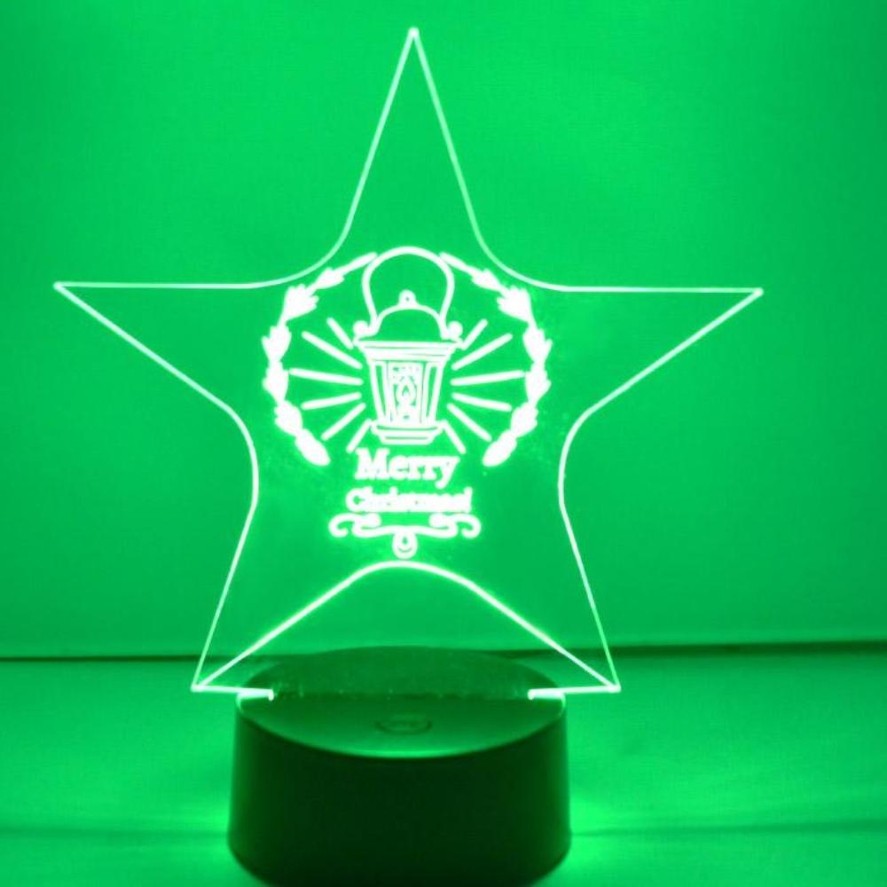 Christmas Lantern Star Colour Changing LED Acrylic Light - Suave Petal