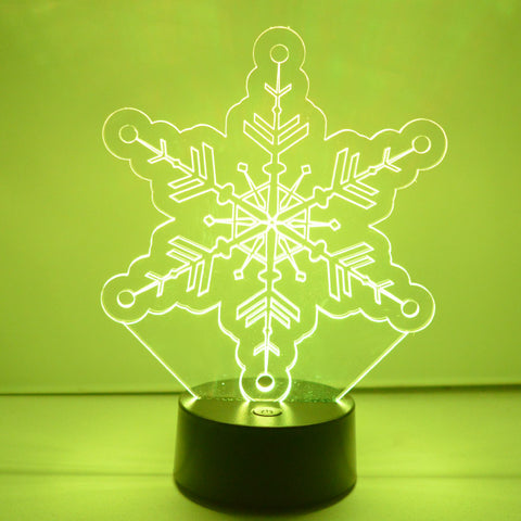 Winter Snowflake Colour Changing LED Acrylic Light - Crystal Circles - Suave Petal