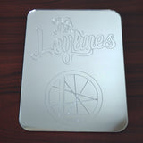 The Leylines Rectangle Logo and Name Engraved Acrylic Mirror - Suave Petal