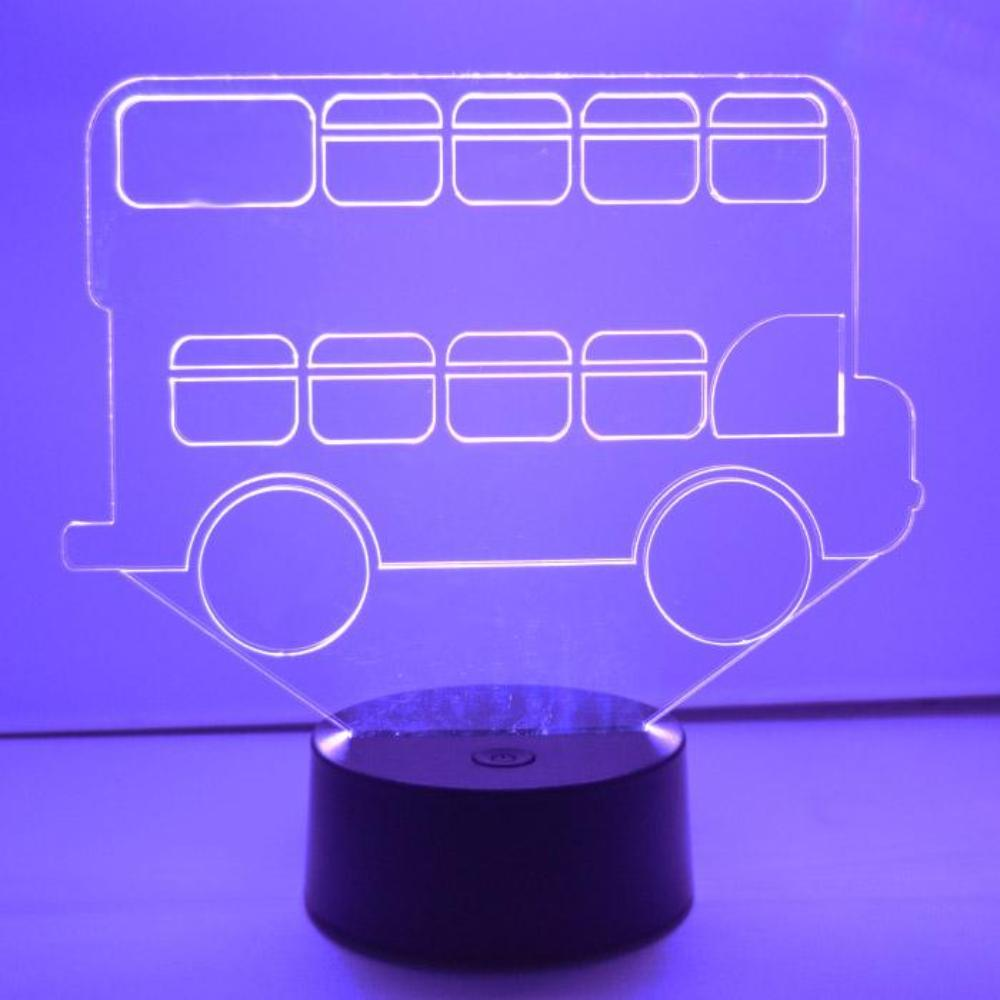 Double Decker Bus LED Colour Changing Acrylic Light - Suave Petal