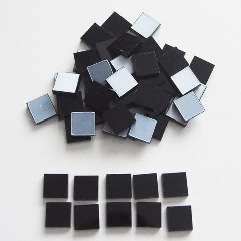 BLACK 3cm Square Acrylic Mosaic Tiles