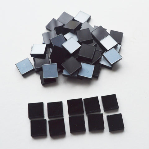 BLACK 1cm Square Acrylic Mosaic Tiles