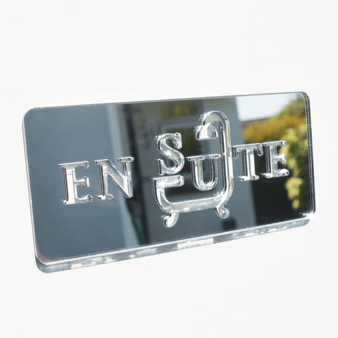 En Suite Acrylic Mirrored Door Sign