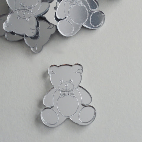 Mr Bear Mini Craft Sized Acrylic Mirrors (10Pk)