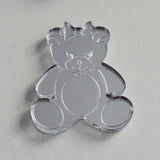 Mrs Bear Mini Craft Sized Acrylic Mirrors (10Pk)