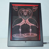 Flamingo Bird Lovers Colour Changing RC LED Mirror Light Frame - Suave Petal
