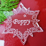 Personalized Snowflake Acrylic Christmas Decorations