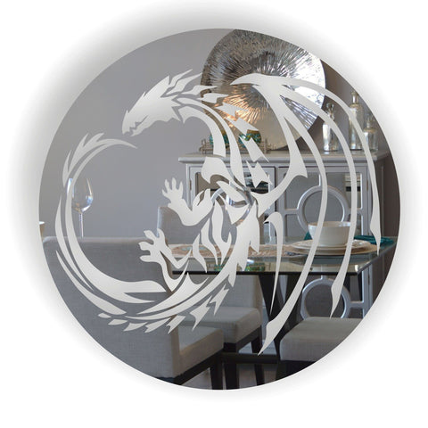Dragon Circle Acrylic Mirror