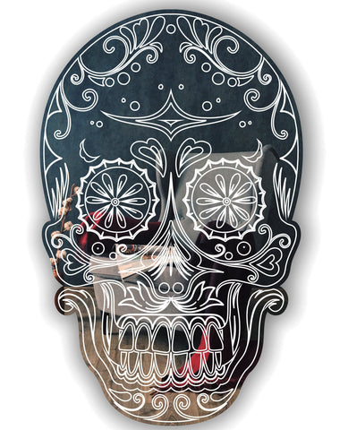 Day of The Dead Candy Skull Handmade Acrylic Mirror