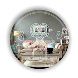 Flamingo Lovers Circle Acrylic Mirror