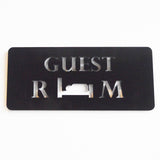 Guest Room Acrylic Black Door Sign