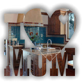 Big Heart Little Heart I LOVE MUM Text Acrylic Mirror