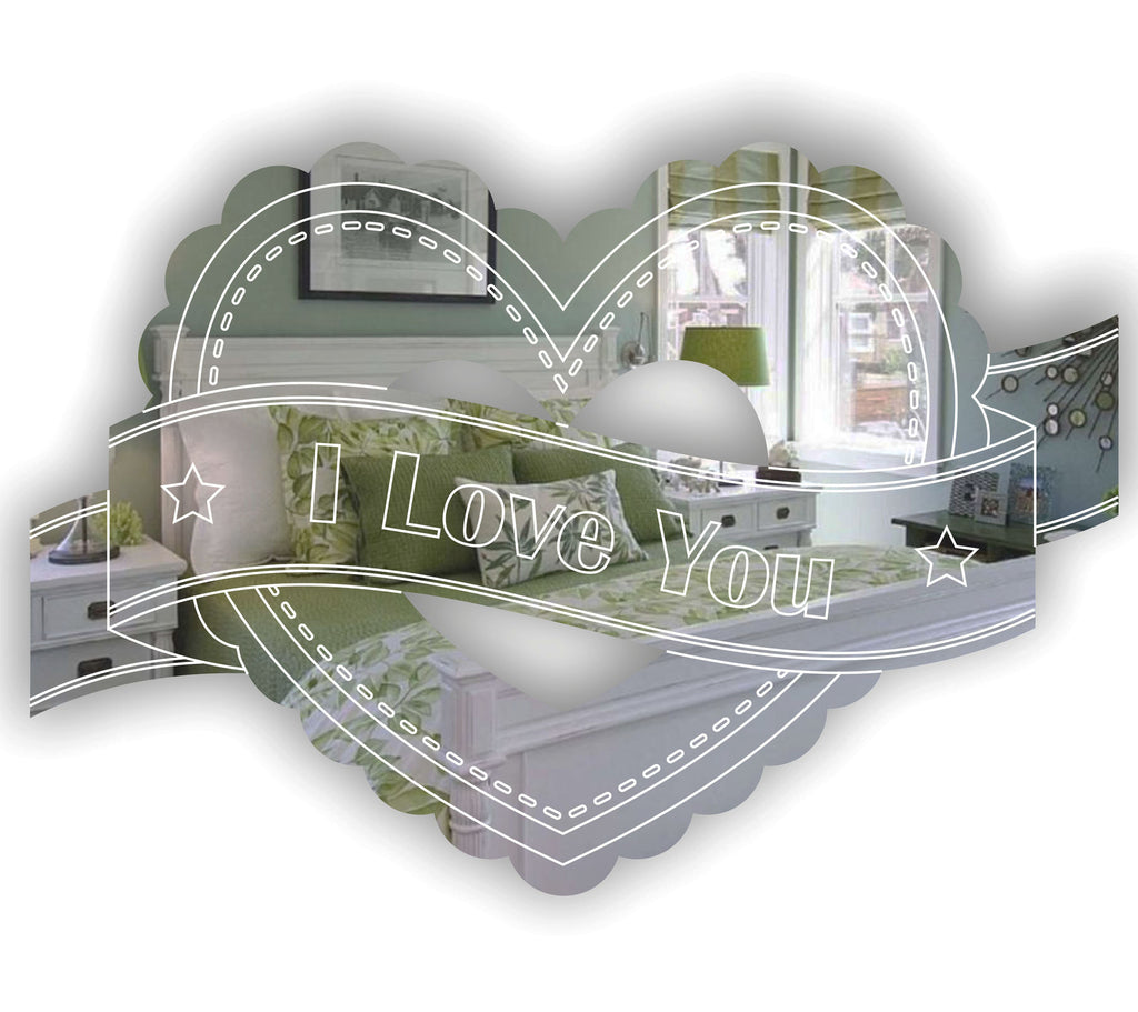 Heart & Banner FRILLY I LOVE YOU Acrylic Mirror