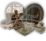 Heart & Banner LOVE YOU FOREVER Acrylic Mirror
