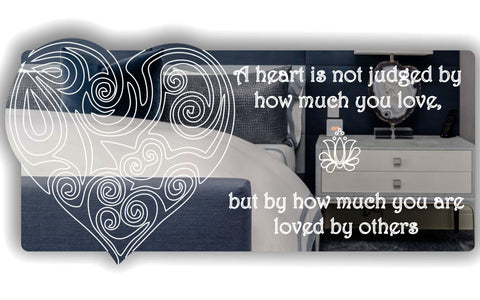 Judged Heart and Quote Acrylic Mirror