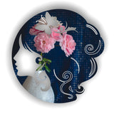 Lady Butterfly Head Acrylic Mirror