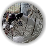Mermaid Circle Engraved Acrylic Mirror