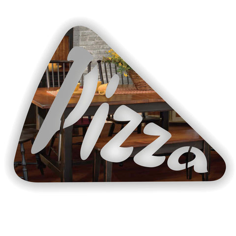 Pizza Slice Acrylic Mirror Sign - Suave Petal