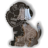 I LOVE YOU Cute Puppy with Heart Acrylic Mirror
