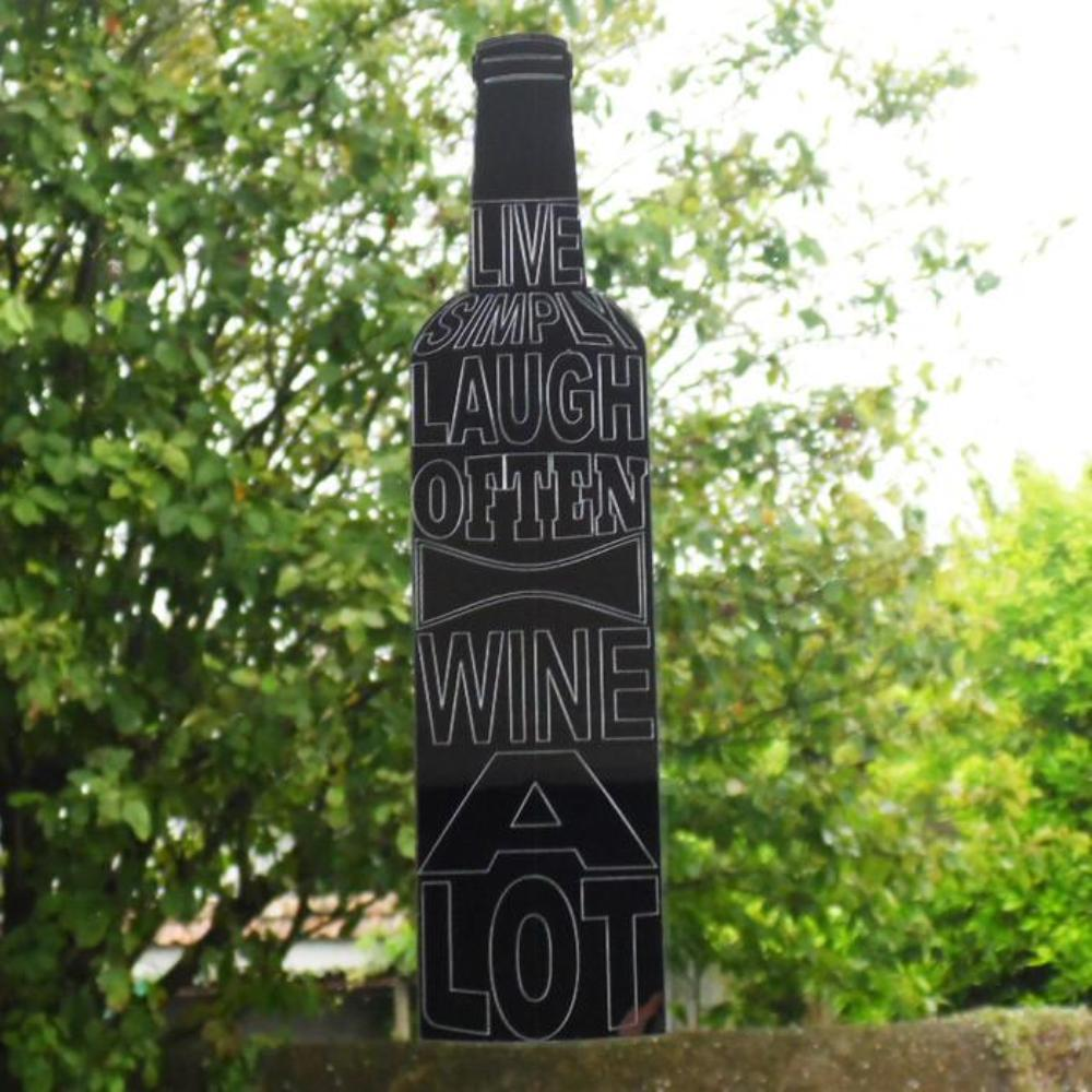 Laugh Often-Wine A Lot Quote Wine Bottle Acrylic Mirror - Suave Petal