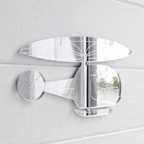 Childrens Engraved Helicopter Acrylic Mirror - Suave Petal