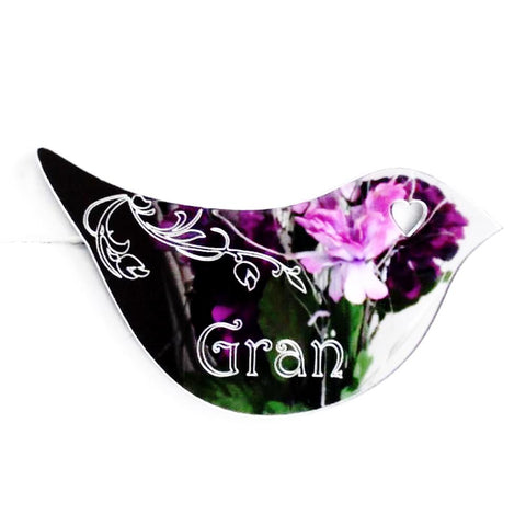 Floral Dove Acrylic Mirror Door or Wall Sign - GRAN - Suave Petal