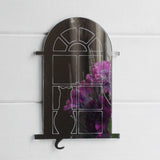 Sitting Cat in Arched Window Acrylic Mirror - Suave Petal