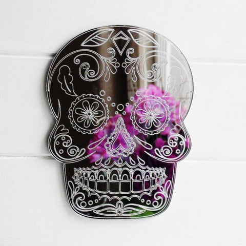 Day of The Dead Cheeky Candy Skull Acrylic Mirror - Suave Petal