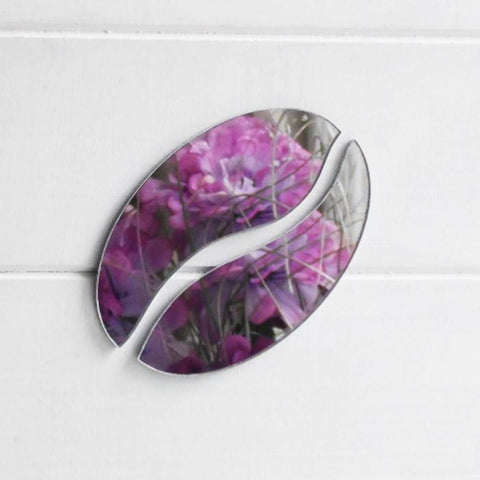 2 Piece Coffee Bean Acrylic Mirror - Suave Petal