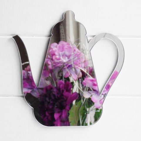 Coffee Pot Acrylic Mirror - Suave Petal