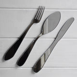 3pc Knife Fork & Spoon Kitchen Cutlery Acrylic Mirror - Suave Petal