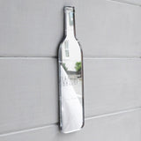Wine Bottle Engraved Acrylic Mirror - Suave Petal