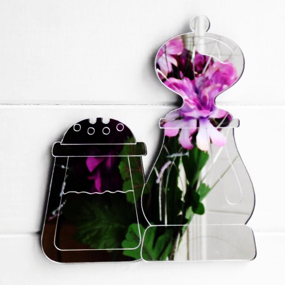 Kitchen Salt and Pepper Pots Acrylic Mirror - Suave Petal