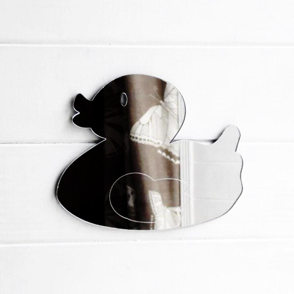 Cute Bathroom Rubber Duck Acrylic Mirror - Suave Petal