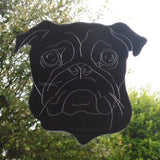 Pug Dog Face Engraved Acrylic Mirror - Suave Petal