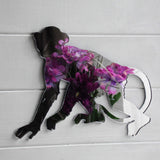 Walking Monkey Acrylic Mirror - Suave Petal