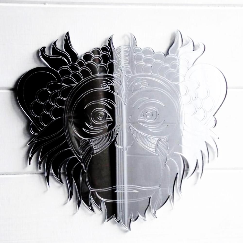 Monkey Face Engraved Acrylic Mirror - Suave Petal