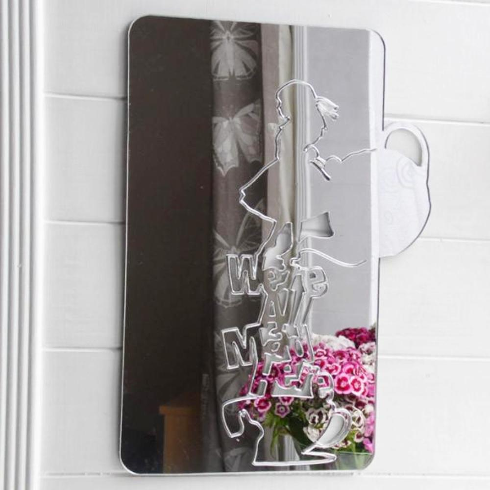 Alice in Wonderland 'We're All Mad Here' Acrylic Mirror - Suave Petal
