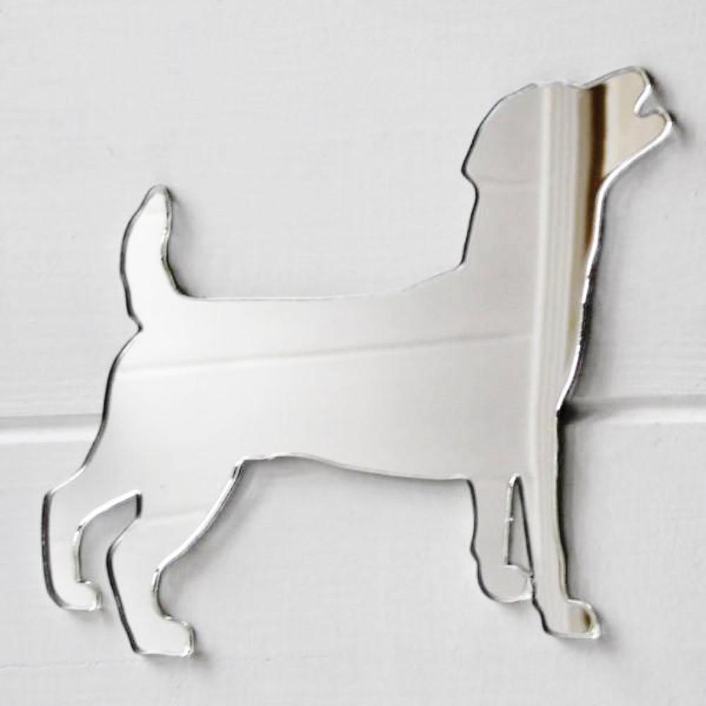Jack Russell Terrier Dog Acrylic Mirror - Suave Petal