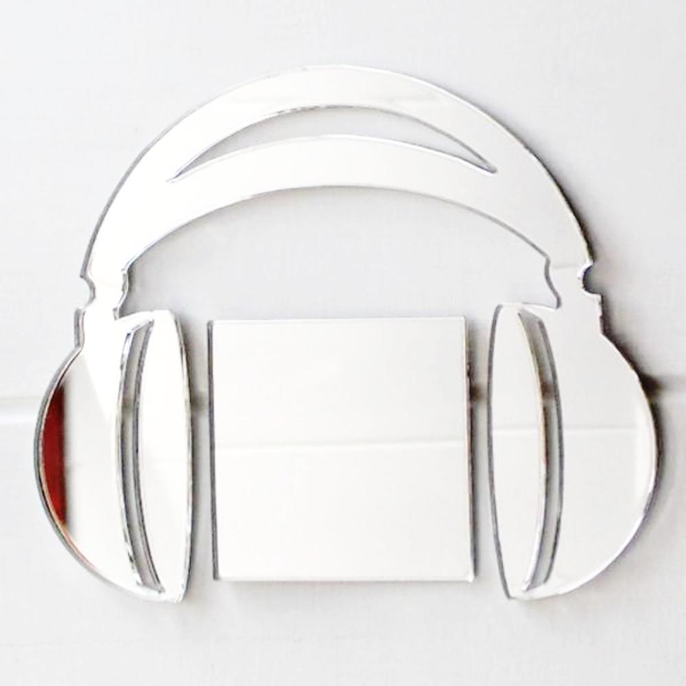 Music Headphones Acrylic Mirror - Suave Petal