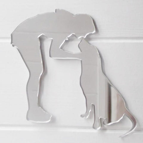 Dog Training Acrylic Mirror - Nose Kiss - Suave Petal