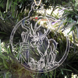 6 Pk of Handmade FROZEN themed Clear Acrylic Christmas Tree Decorations - Suave Petal
