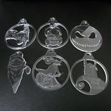 6 Pk of Handmade NIGHTMARE BEFORE CHRISTMAS themed Clear Acrylic Decorations - Suave Petal