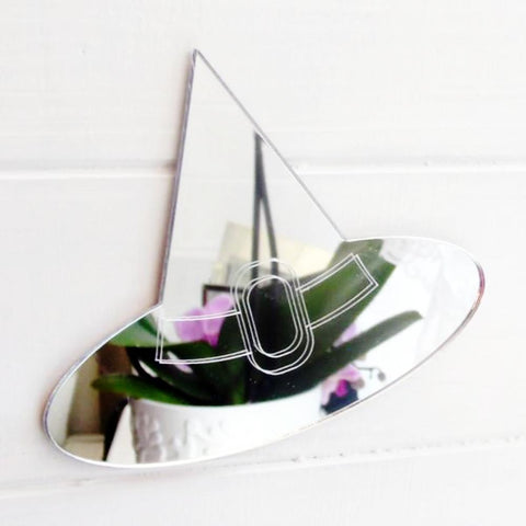 Engraved Halloween Witches Hat Acrylic Mirror - Suave Petal