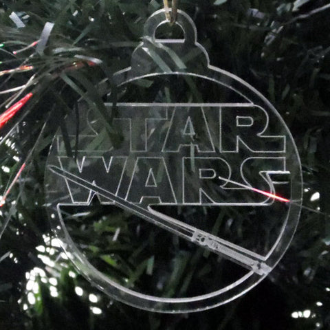 6 Pk Handmade Star Wars Christmas Clear Acrylic Decorations - Set 2 - Suave Petal